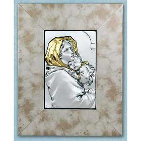 Madonna Ferruzziego płaskorzeźba złoto srebro na drewnie s1