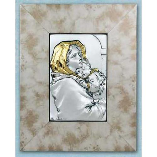 Madonna Ferruzziego płaskorzeźba złoto srebro na drewnie 1