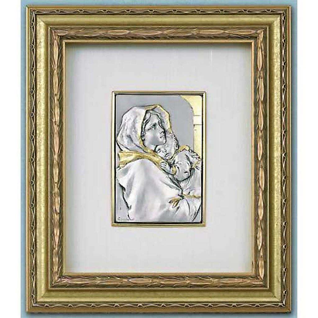 Bajorrelieve Virgen del Ferruzzi, plata y oro sobre madera 4