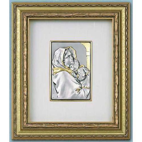Bajorrelieve Virgen del Ferruzzi, plata y oro sobre madera 1
