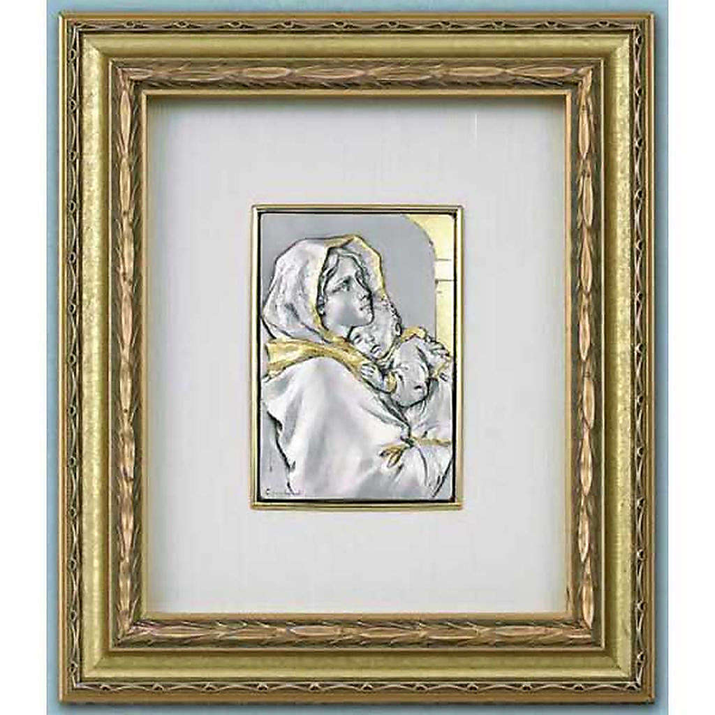 Bassorilievo Madonna del Ferruzzi argento oro su legno 4