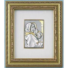 Bassorilievo Madonna del Ferruzzi argento oro su legno s1