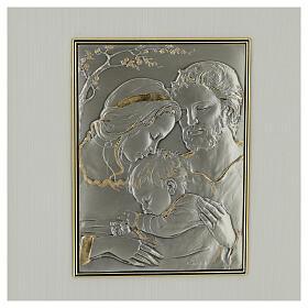 Bassorilievo oro argento 925 Sacra Famiglia s2