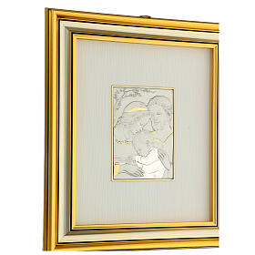 Bassorilievo oro argento 925 Sacra Famiglia s3
