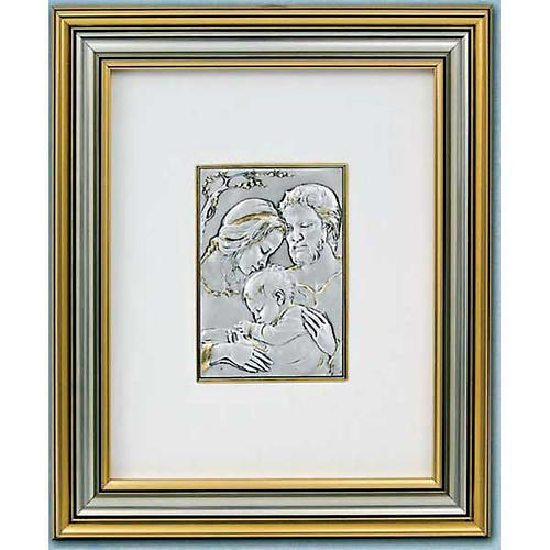 Bassorilievo oro argento 925 Sacra Famiglia 1