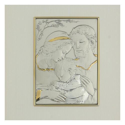 Bassorilievo oro argento 925 Sacra Famiglia 2