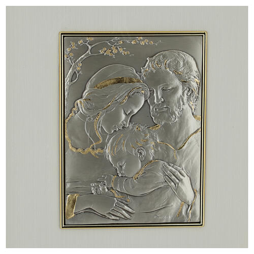 Bas-relief, Holy Family, gold sterling silver 2