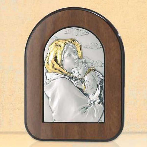 Bassorilievo Madonna Ferruzzi argento oro 1