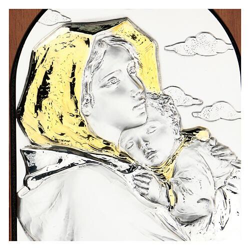Bassorilievo Madonna Ferruzzi argento oro 2