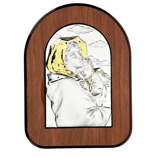 Madonna Ferruzzi płaskorzeźba srebro złoto