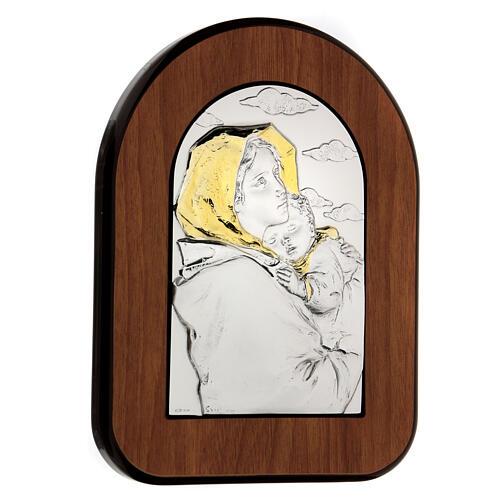 Bas-relief, Ferruzzi's Madonna gold, silver 3