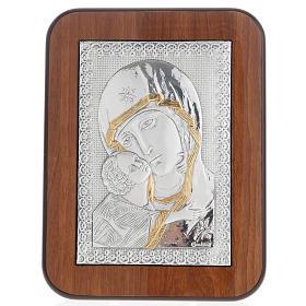 Bassorilievo argento oro Madonna della Tenerezza s1