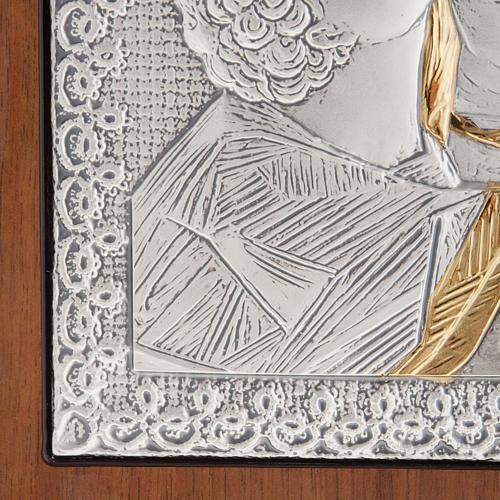 Eleousa Matka Boska Czuła płaskorzeźba srebro zło 3