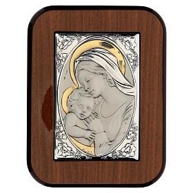 Madonna całująca dzieciątko Jezus płaskorzeźb s1