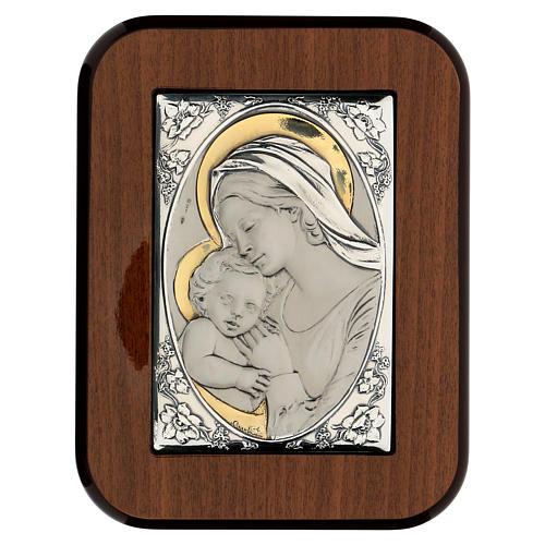 Madonna całująca dzieciątko Jezus płaskorzeźb 1