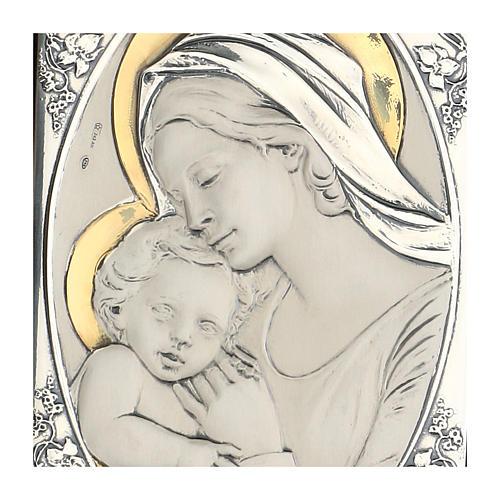 Madonna całująca dzieciątko Jezus płaskorzeźb 2