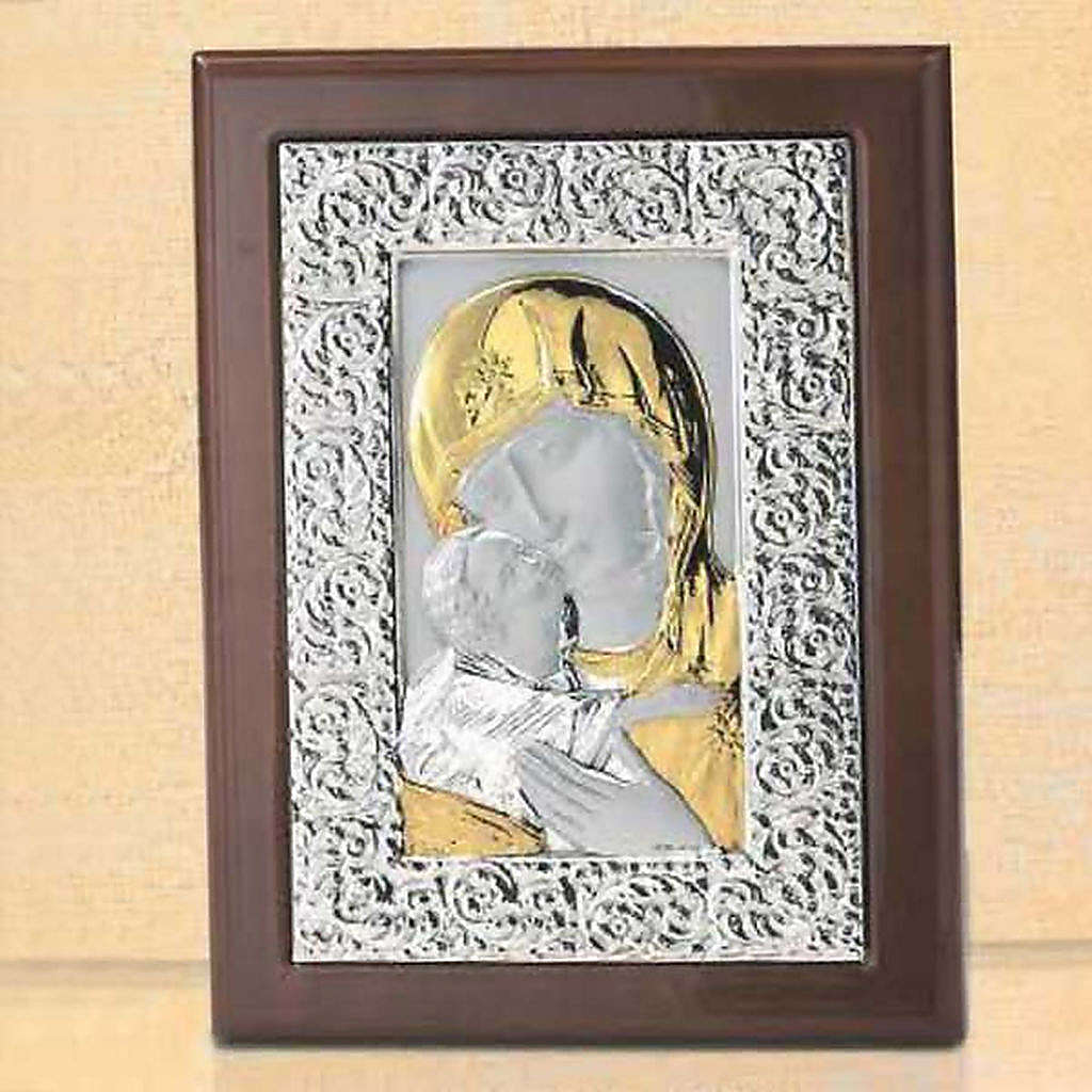 Bas-relief, silver and gold , Our Lady of Tenderness 4