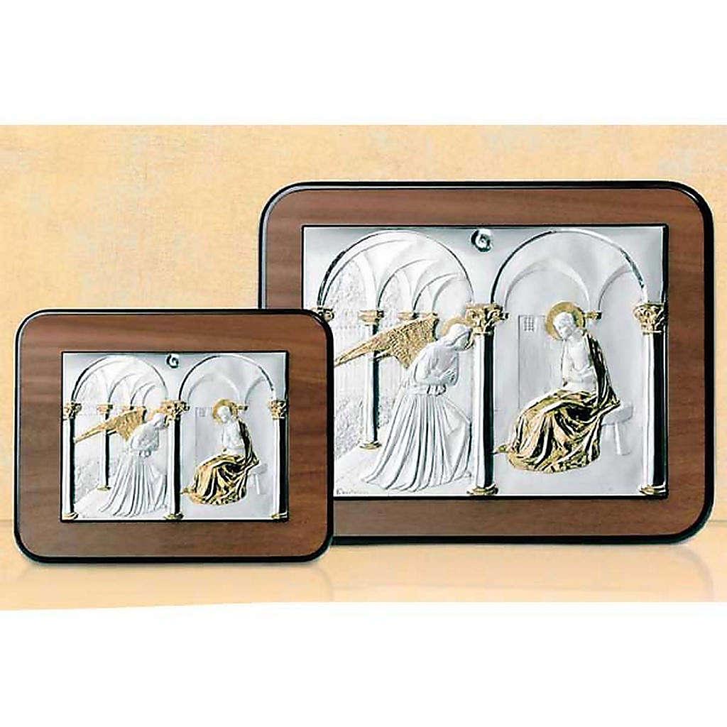 Bassorilievo Annunciazione argento oro su legno 4