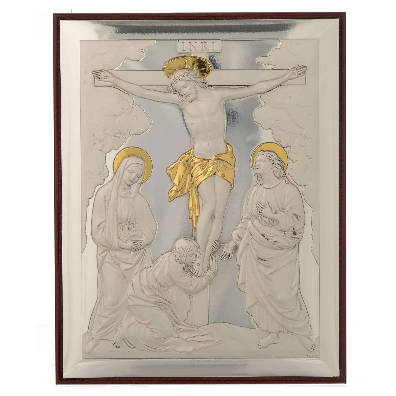 Bassorilievo Crocifissione argento oro 4