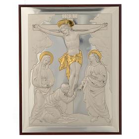 Bassorilievo Crocifissione argento oro s1