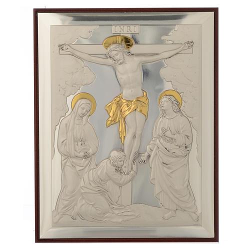 Bassorilievo Crocifissione argento oro 1