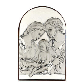 Bassorilievo Sacra Famiglia ovale argento s1
