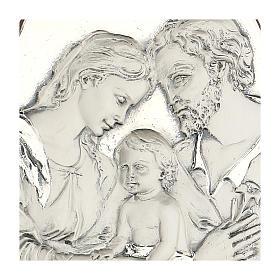 Bassorilievo Sacra Famiglia ovale argento s2