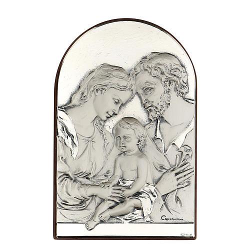 Bassorilievo Sacra Famiglia ovale argento 1