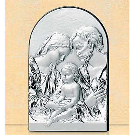 Bas-relief, Holy Family, oval, silver s1