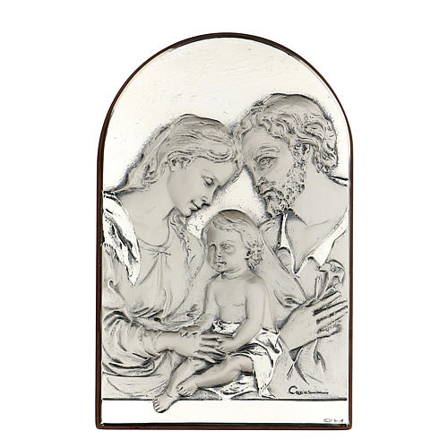 Bas-relief, Holy Family, oval, silver 1