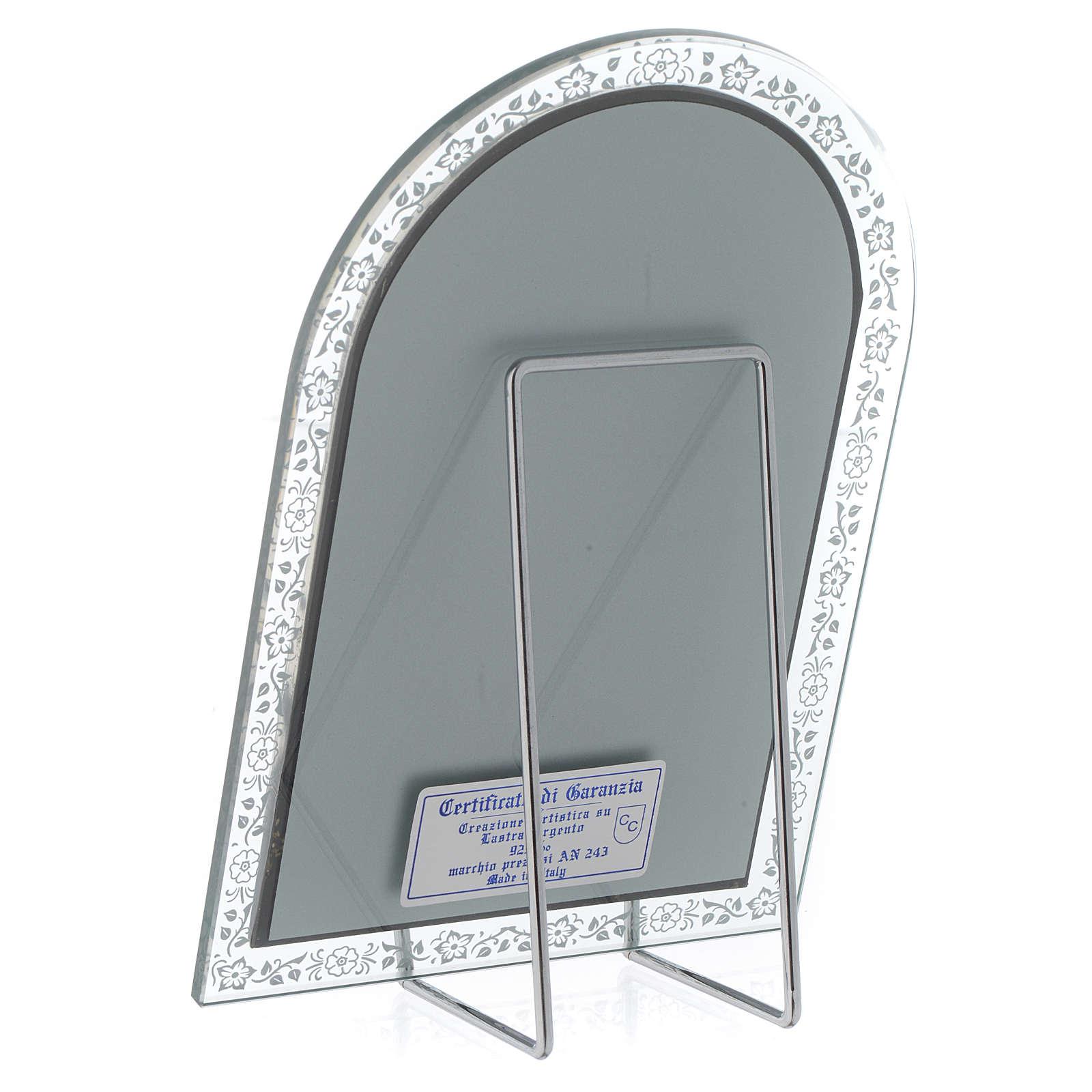 Bassorilievo argento Madonna Ferruzzi cornice vetro 4