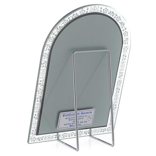 Bassorilievo argento Madonna Ferruzzi cornice vetro 3