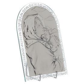 Madonna Ferruzzi płaskorzeźba srebro ramka szkło s2