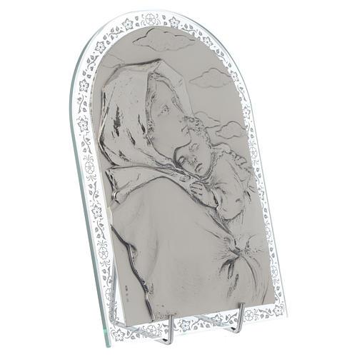 Madonna Ferruzzi płaskorzeźba srebro ramka szkło 2