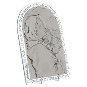 Bas-relief in silver, Ferruzzi's Madonna glass frame s2