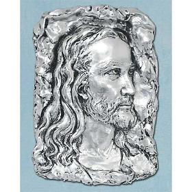 Obraz nad łóżko Twarz Chrystusa metal posrebrzany s1