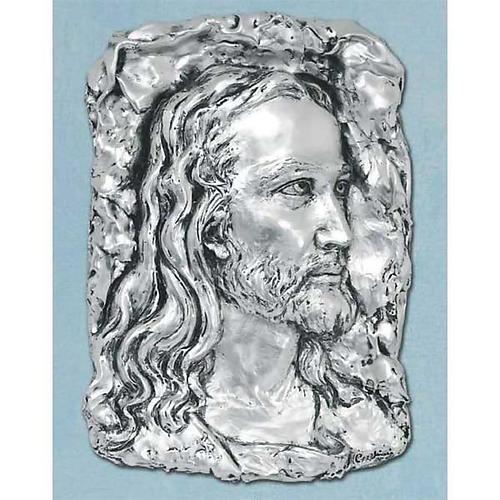Obraz nad łóżko Twarz Chrystusa metal posrebrzany 1