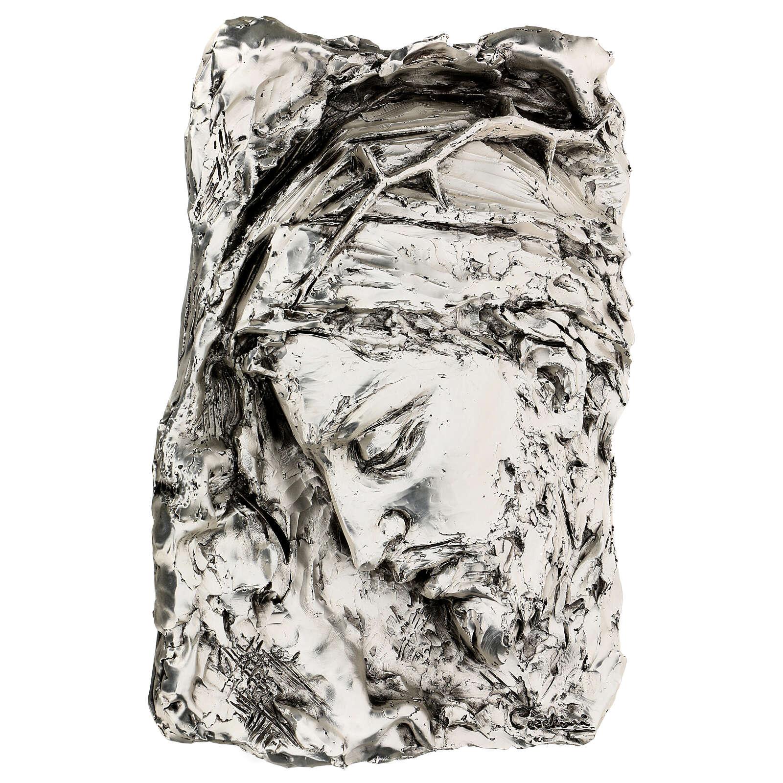 Capoletto Volto di Cristo coronato di spine argentato 4