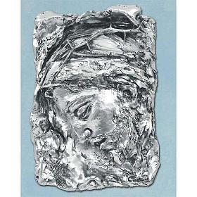 Capoletto Volto di Cristo coronato di spine argentato s1