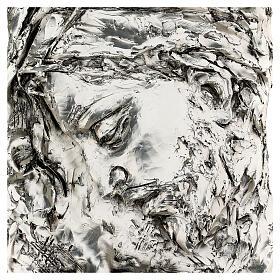 Capoletto Volto di Cristo coronato di spine argentato s2