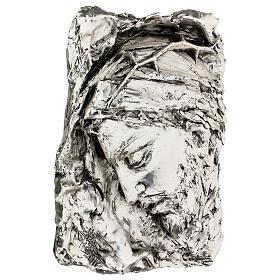 Capoletto Volto di Cristo coronato di spine argentato s3