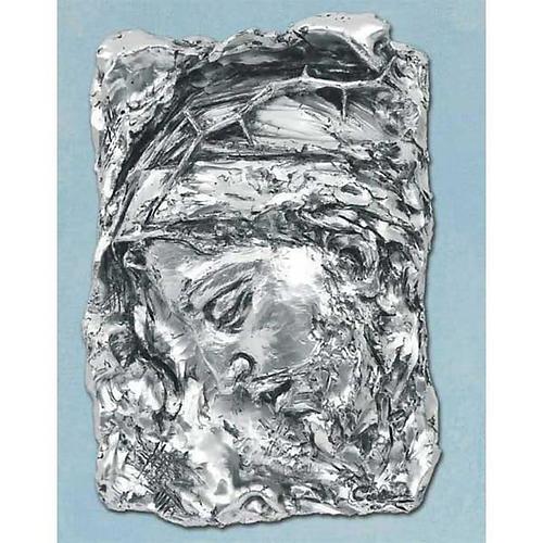 Capoletto Volto di Cristo coronato di spine argentato 1
