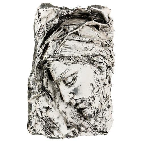 Capoletto Volto di Cristo coronato di spine argentato 3