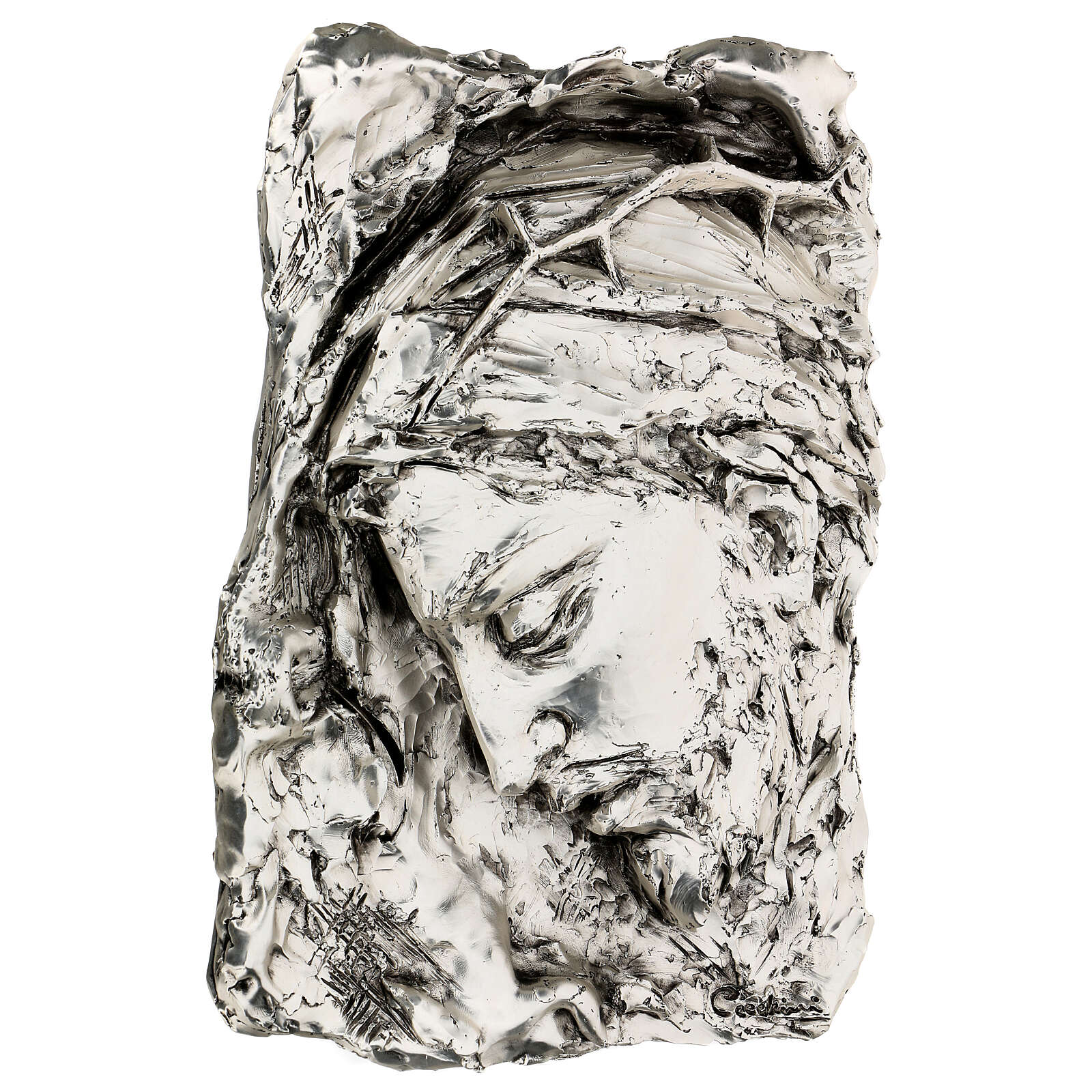 Silver Bas-relief, face of Christ with crown of thorns 4