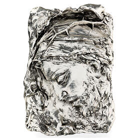 Silver Bas-relief, face of Christ with crown of thorns s1