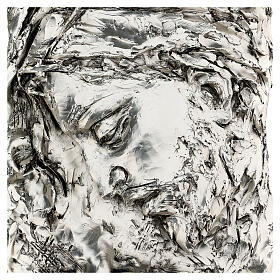 Silver Bas-relief, face of Christ with crown of thorns s2