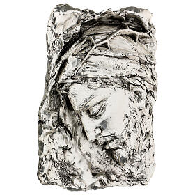 Silver Bas-relief, face of Christ with crown of thorns s3