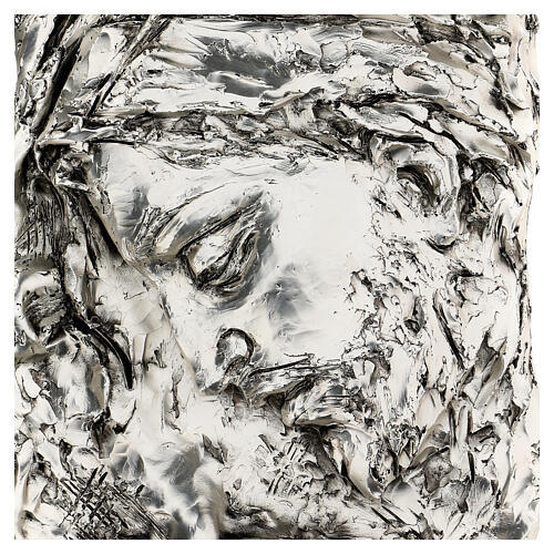 Silver Bas-relief, face of Christ with crown of thorns 2