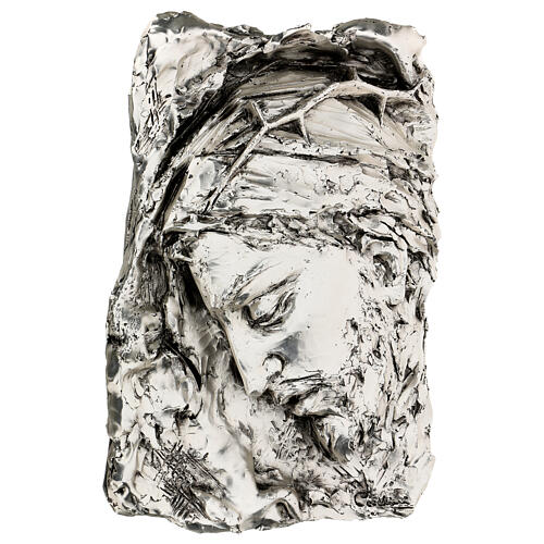 Silver Bas-relief, face of Christ with crown of thorns 3