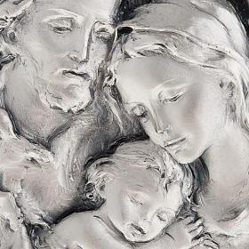 Basrelief der Heiligen Familie, silberweisses Metall s2